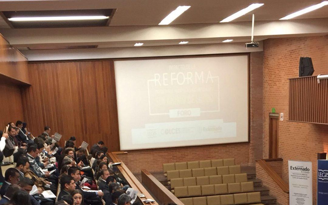 Peña Mancero en el seminario sobre el Impacto de la Reforma Tributaria frente a las ESAL