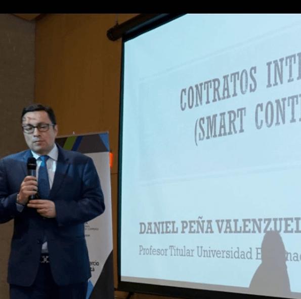 El socio Daniel Peña participa de la conferencia:  smart contracts de la Comisión de Prácticas Mercantiles de la CCI