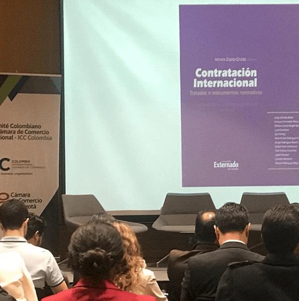 Presentación del libro Contratación Internacional, con la participación del socio Daniel Peña